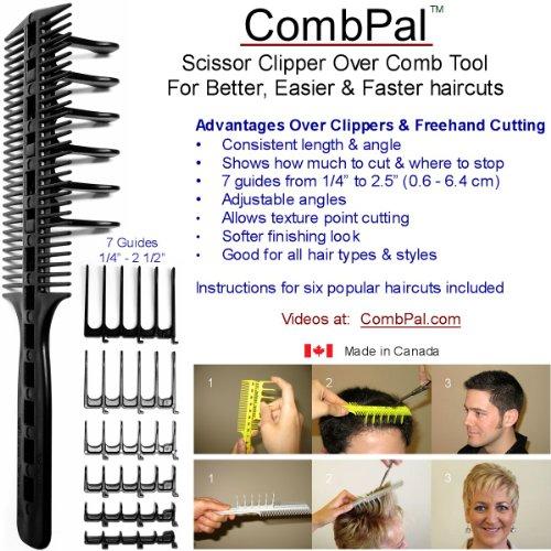 Original CombPal Scherenschneider über Kamm Haarschneidewerkzeug Barber Haircutting Comb Set (Gelb)