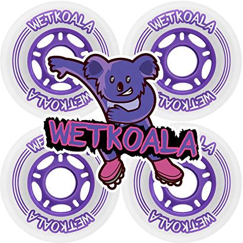 WETKOALA Inline Skates Rollen 80mm / 85A Härte (4 Stück) für Inliner, Scooter, Waveboard, Roller etc. / Langlebige Ersatzrollen mit High Rebound und starkem Grip