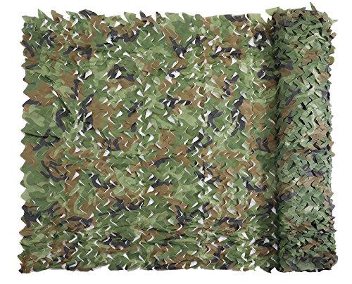 Sensong Tarnnetz Camouflage Netz Woodland 1.5 x 2 M Armee Tarnung Net für Deko Waldlandschaft Jagd Outdoor Camping