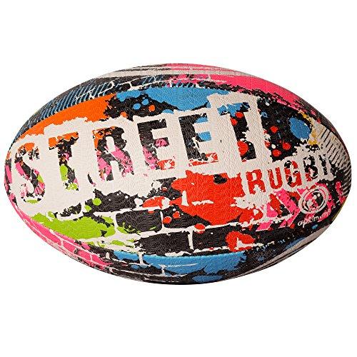 Optimum Street Rugby Ball, Mehrfarbig, Größe 3