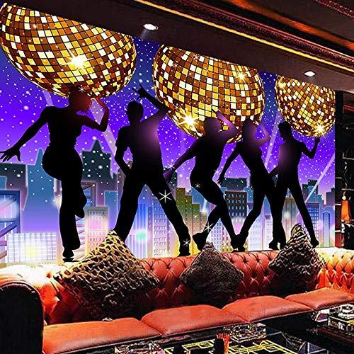 SDzuile Fototapete Selbstklebend 3D Effekt Ktv Bar Tanz 250X175Cm Türtapete Wandbilder Tapeten Wanddeko Moderne Art Poster Wohnzimmer Kinderzimmer Büro Wandtattoo Wandgemälde