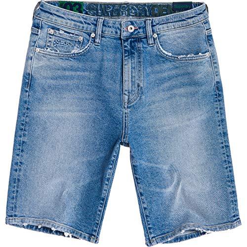Superdry Jeans Shorts Herren Tyler Slim Short Kirk Authentic Blue, Hosengröße:33