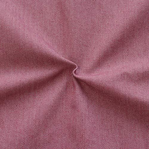 STOFFKONTOR Stretch Denim Jeans Stoff Meterware Bordeaux-Violett