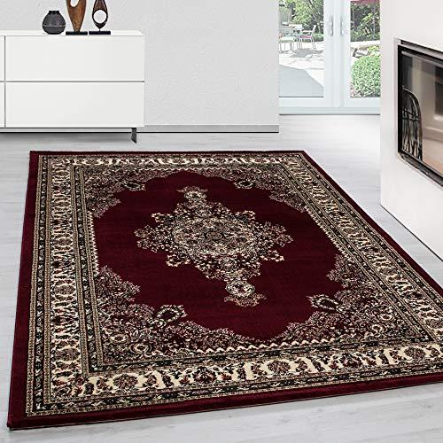 Teppich Orientteppich Klassische Optik Orientalisch Traditional Medaillion Rot, Maße:200 cm x 290 cm