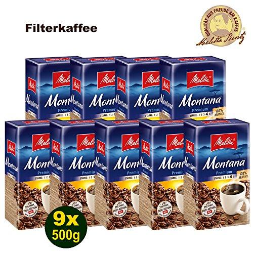 Melitta MONTANA Premium Filterkaffee 9x 500g (4500g) - Melitta Café gemahlen
