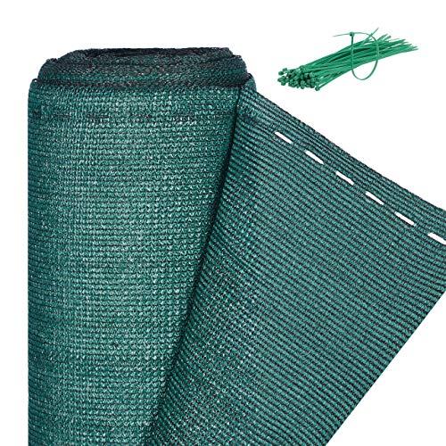 Relaxdays Zaunblende, Sichtschutz für Zaun & Balkongeländer, HDPE Gewebe, UV-stabilisiert, wetterfest, 1,2 x 6 m, grün