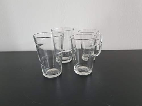 Nespresso 2x VIEW Mugs & 2 VIEW Recipe Glasses Set