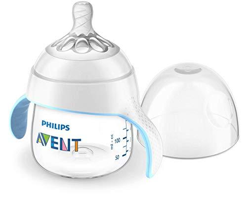 Philips Avent Trinklernbecher mit Natural-Sauger SCF262/06, Anti-Kolik System, Griffe, 150ml, 4m+