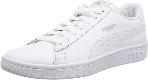Puma Smash v2 L, Unisex-Erwachsene Sneakers, Weiß (Puma White-Puma White), 45 EU (10.5 UK)