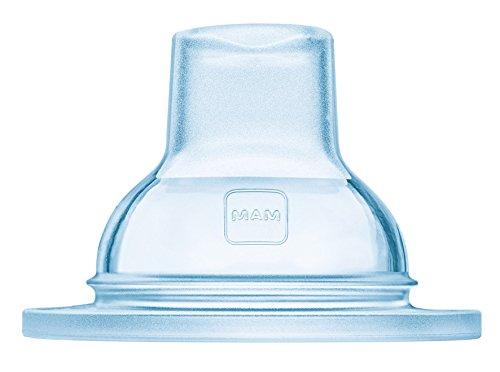 MAM Trinkschnabel im 2er-Set, extra weicher Trinkschnabel für alle MAM Flaschen und den MAM Trainer, ideal für den Übergang zum Trinklernbecher, 4+ Monate, durchsichtig