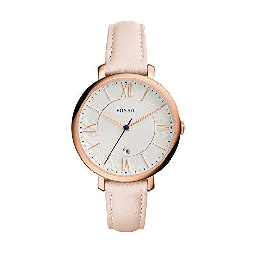 Fossil Damen Analog Uhr mit Leder Armband ES3988
