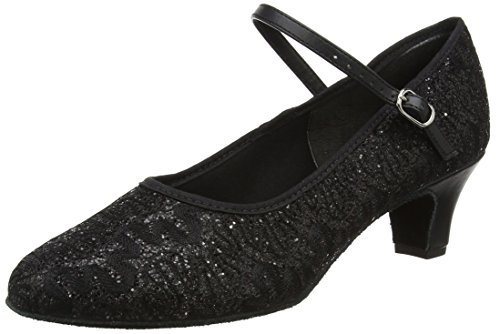 So Danca Damen Bl502 Tanzschuhe - Standard & Latein, Schwarz (Black Sparkle), 41 EU (7.5 UK)