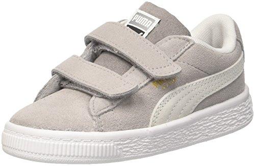 Puma Unisex-Kinder Suede Classic V Inf Sneaker, Grau (Ash White), 25 EU