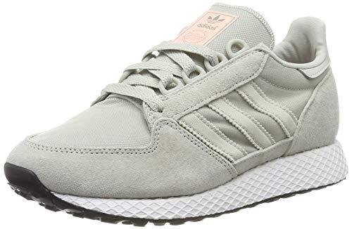 adidas Damen Forest Grove W Gymnastikschuhe, Silber (Ash Silver/Ash Silver/Clear Orange Ash Silver/Ash Silver/Clear Orange), 36 EU(3.5UK)
