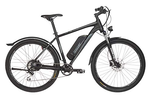 Fischer E-Bike ATB Terra 2.0, graphitschwarz matt, 27,5 Zoll, RH 48 cm, Hinterradmotor 25 Nm, 36 V Akku