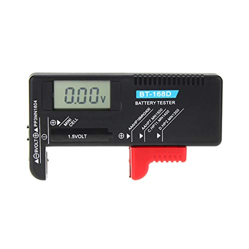 Weishai BT168D Digitaler Batterie-Kapazitätsprüfer LCD für 9 V 1,5 V AA AAA Batterien C D
