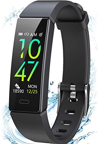 Winisok Fitness Armband mit Blutdruckmessung Pulsmesser, Fitness Tracker Uhr Wasserdicht IP68 Schrittzähler Uhr Stoppuhr Sport GPS Aktivitätstracker Schlafüberwachung Anruf SMS für Kinder Damen Männer