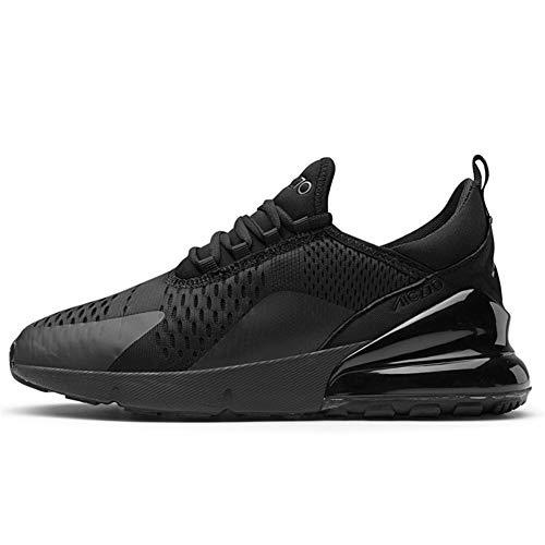 TORISKY Sportschuhe Herren Damen Laufschuhe Air Cushion Luftkissen Sneakers Turnschuhe Fitness Gym Leichtes Bequem Schuhe(270-1-BK38)