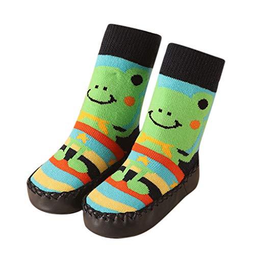 Hahuha Kinderbekleidung,32-39 Monate Kleinkind Jungen Mädchen Cartoon Mokassins rutschfeste Hausschuhe Socken Anti-Rutsch