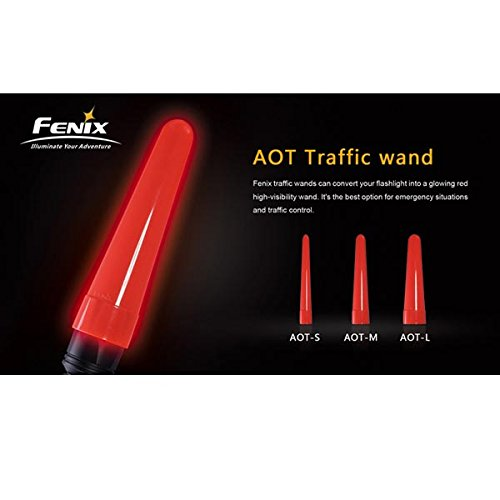 Fenix LED Taschenlampe aot-s aot-m aot-l rot Traffic Zauberstab