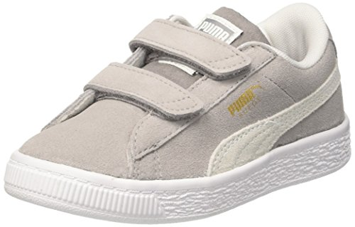 Puma Unisex-Kinder Suede Classic V PS Sneaker, Grau (Ash White), 35 EU
