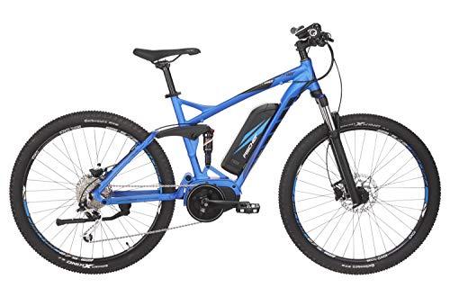 Fischer E-Bike MTB EM 1862.1, blau matt, 27,5 Zoll, RH 48 cm, Mittelmotor 80 Nm, 48 V Akku