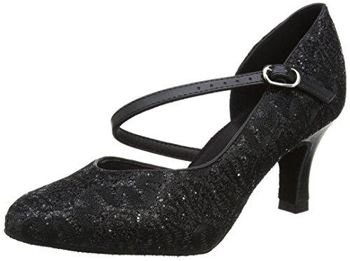 So Danca Damen Standard & Latein Tanzschuhe - Standard & Latein, Schwarz (Black Sparkle), 41.5 EU (11 US)