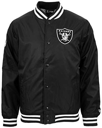 New Era - NFL Oakland Raiders Team Wordmark Bomber Jacke - Schwarz Größe XL, Farbe Schwarz