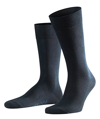 FALKE Herren Socken Family, 94% Baumwolle, 1 Paar, Blau (Dark Navy 6370), Größe: 43-46
