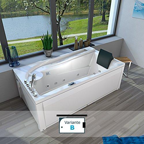 Whirlpool Vollausstattung Pool Jacuzzi Badewanne Eckwanne Wanne A611NN-B 180x100, Sonderfunktion2:ohne 0.-EUR;Selfclean:ohne +0.-EUR