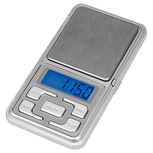 Darts Corner Mini Pocket-Elektronische Digital Waage Zum Wiegen Darts-200g-Genauigkeit 0,01g-LCD-Display-Silber