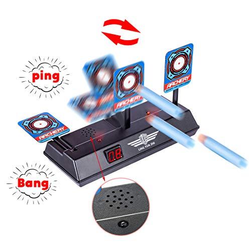 iVansa Zielscheibe für Nerf, Shooting Target Elektrische Ziel, Elektrische Punktzahl Ziel Automatische Wiederherstellung Zubehör für Nerf Soft Bullet Gun Spielzeug