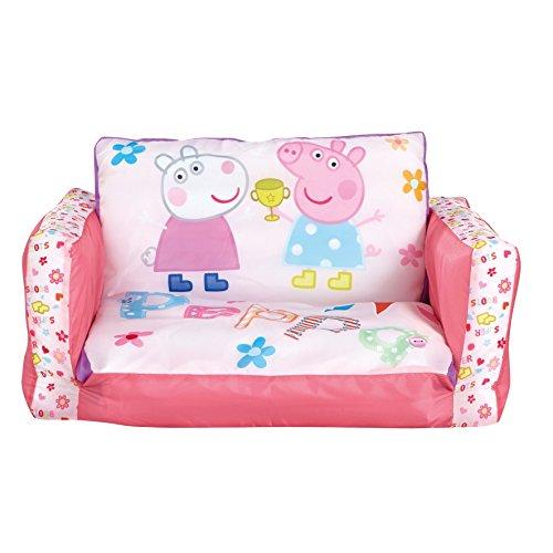 Peppa Pig - Ausziehbares Minisofa - Aufblasbares Sofa und Liegestuhl (2-in-1)