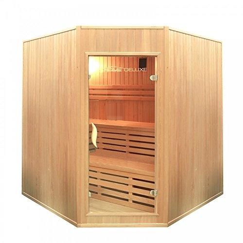 Home Deluxe - Traditionelle Sauna - Relax XL Big - Holz: Hemlocktanne - Maße: 200 x 210 x 200 cm - inkl. Harvia Saunaofen und komplettem Zubehör