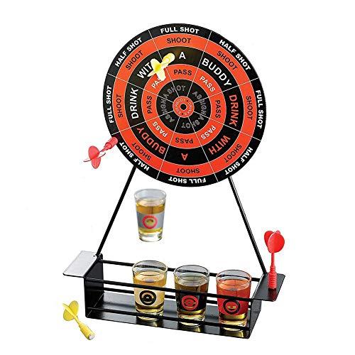 Jannyshop Dartscheibe Mini Dart Schnapsglas Set Spiel Magnetic Drinking Game Wineware mit Cup Iron Frame Weinglas Spiel Dart Brettspiel
