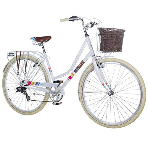 28 Zoll Chill Damenrad Citybike Fahrrad Hollandrad Damenfahrrad 7 Gang, Farbe:Weiss, Rahmengrösse:19 Zoll