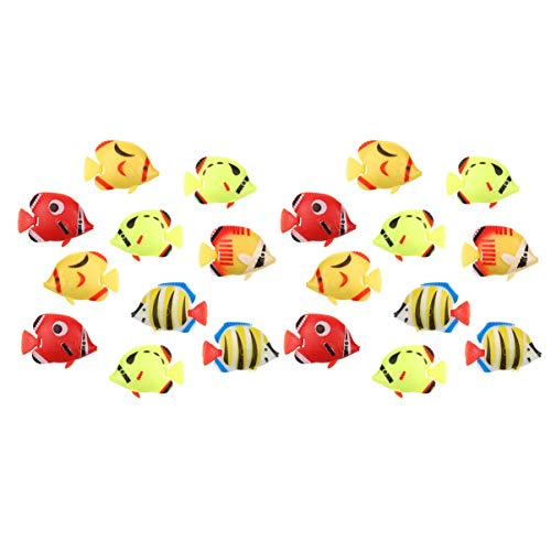 Schwimmende Plastikfische